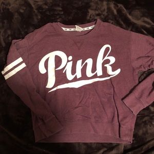PINK maroon cropped sweater